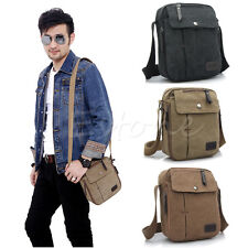 Mens Vintage Canvas Shoulder Bag Crossbody Satchel Military Messenger Travel