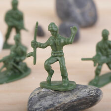100pcs/Pack Military Plastic Toy Soldiers Army Men Figures 12 Poses Gift CU
