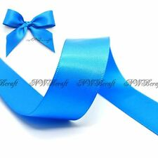 Aegean Blue  Double Sided Satin Ribbon 3mm 6mm 10mm 16mm 22mm 28mm 50mm
