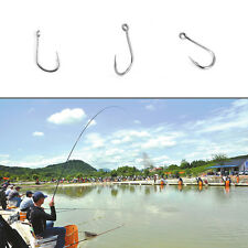 100pcs Fishing Bait Barb Fishhook Lure Tackle With Box Size 4/6/8/10/12 CU