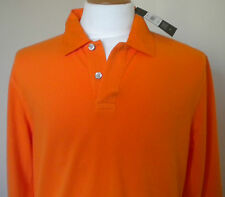 TOMMY HILFIGER ORANGE  LONG SLEEVED POLO TOP SIZE LARGE  BNWT