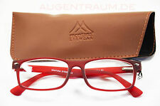 Light Unisex Reading glasses From Plastic Red Women's Reading aid +1,0 bis +3,5