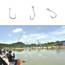 100pcs Fishing Bait Barb Fishhook Lure Tackle With Box Size 4/6/8/10/12 CZ