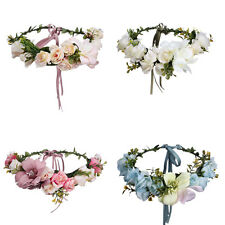 Flower Garland Floral Bridal Headband Hairband Wedding Prom Vine Hair Band