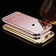 Luxury Aluminum Metal Ultra Thin Mirror Back Phone Case Cover Skin For iPhone