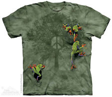 Peace Tree Frog T-Shirt from The Mountain - Sizes Adult S - 5X