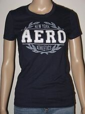 Aeropostale Womens T-Shirt Slim Fit NY Aero Athletics Graphic S M or L Navy NWT