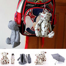 New Womens Girl's Cute Teddy Bear Mini 5 Folding Rain Umbrella Parasol With Case