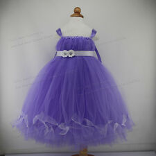 Baby Girl Princess Ball Gown Tulle Infant Tutu Prom Party Evening Dresses Long
