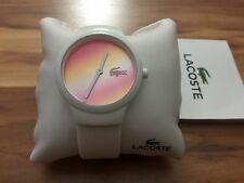 GENUINE LACOSTE GOA SILICONE STRAP WATCH WHITE CASUAL PINK  2020107 WOMEN QUARTZ