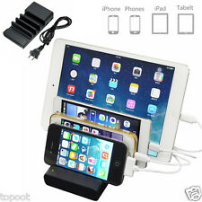 4-Port USB Charging Dock Station Charger Stand Organizer for Tablet iPhone Nokia