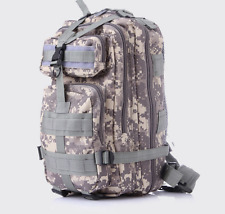 30L Army Military Hiking Camping Bag Tactical Trekking Rucksack Backpack Camo
