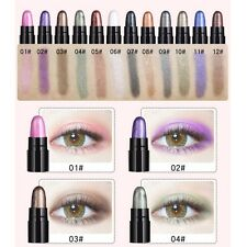 12 Colors Glitter Eye Shadow Stick Eye Shadow Pencil Pigment Waterproof Make Up
