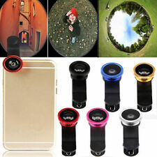 3 in1 Fish Eye+ Wide Angle + Macro Camera Clip-on Lens for iPhone5 5S 6 6+