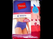 Hanes 6 Pack Cotton Briefs ALL SIZES/COLORS Ultra Plush Womens Underwear Panties