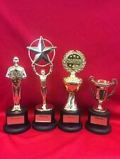 Award Trophy Small Gold Plastic Achievement Trophy  Championship, Star, Cup 4-1C