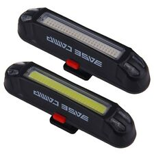Bicycle Bike Head Front Rear Tail LED Light USB Rechargeable 100 Lumens+ ^9