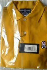 $85 NWT PSYCHO BUNNY Gold M(5) men's PIMA cotton short sleeve POLO shirt