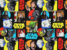 Star Wars Darth Vader Yoda Jedi fabric Fat Quarter