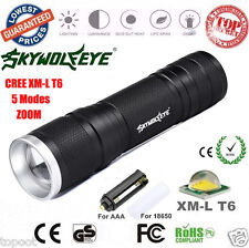 8000LM  CREE XML-T6 LED Zoom Flashlight Focus Torch Lamp 26650/18650/AAA Light