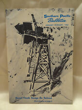 VINTAGE ISSUE 1965 SOUTHERN PACIFIC RAILROAD BULLETIN  PAMPHLET RECORD FLOODING