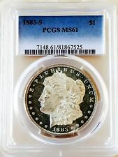 1883 S MORGAN! PCGS MS61! MONSTER UNDERGRAD! COIN LOOKS FULLY PL! A STUNNER! WOW