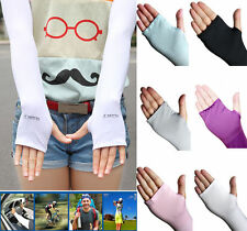 6 Color Sports Hand Cover Arm Cooling Sleeves Gloves Sun Protection Golf Driving