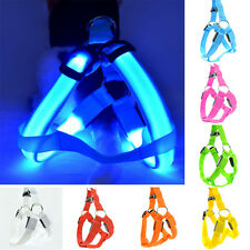 Brand New Glow Leash Rope Belt LED Flashing Light Harness Dog Pet Safety Collarღ