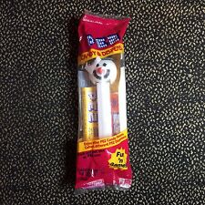 Vintage Pez Candy & Dispenser - White Snowman - New In Plastic