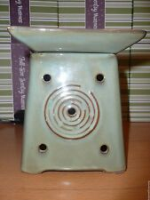 Sendai Scentsy Retired warmer for scented fragrance wax bar green