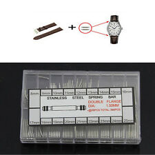 360 Pcs Stainless Steel Watch Band Spring Bars Strap Link Pins 8-25mm Watchmaker