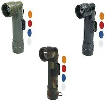 NEW GI TYPE Military Tactical Angle Head Anglehead D-Cell Survival Flashlight