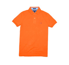 NEW men Tommy Hilfiger short sleeve Custom  fit Ivy Polo shirt size L orange