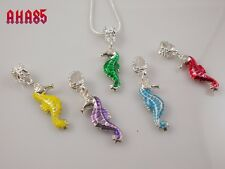 Unique Handmade Jewellery, Colourful Seahorse Pendant Necklace, 5 colours NEW