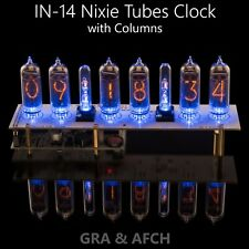 Clock for IN-14 Nixie Tubes, Glass Columns, Musical,USB (Arduino comp)[NO TUBES]