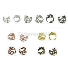 10pcs Adjustable Vintage Filigree Ring Blanks Ring Bases with Flat Pad Jewelry