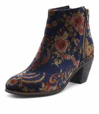 New I Love Billy Nolo Navy Print Women Shoes Casuals Boots Ankle Boots