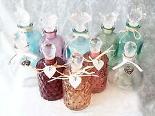 Vintage look~Decorative glass perfume bottles with crystal lids