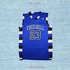 Nathan Scott 23 Ravens Basketball Jersey Blue One Tree Hill
