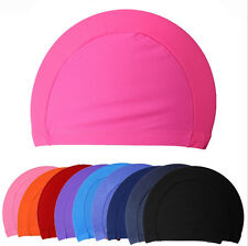 2015 New Children kids Unisex Nylon Swimming Cap Swimming Hat Elasticity ab