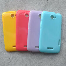 For HTC One X S720e Endeavor Soft Glossy Rubber Case back cover
