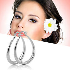 New Unique Fashion Exquisite Silver Plated Woman Lady Earrings Modern Jewelry LN