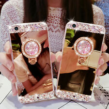 Bling Diamond Stand Mirror Phone Case Cover Skin For iPhone/Samsung/LG/Huawei B