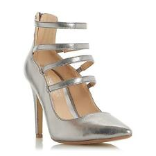 Head Over Heels by Dune Ladies ALORA Strappy High Heel Court Shoe in Pewter