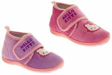 Girls Hello Kitty Comfy Childrens Glitter Ankle Boot Slippers