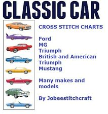 Classic Car Cross Stitch Chart pattern design - many makes and models available