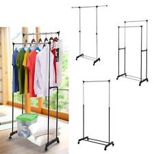 Commercial Rolling Garment Rack Heavy Duty Clothes Display Hanger Rail W1W8