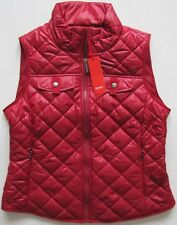 NEW Esprit RRP 80€ quilted gilet bodywarmer nylon red maroon BNWT womens S M L