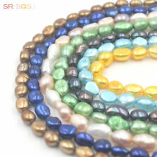 """Natural Freeform Freshwater Pearl Beads Jewelry Making Spacer Strand 15""""  8x10mm"""