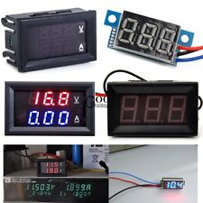 1pcs DC 0-100V/3V To 30V Blue/Red LED Panel Meter Digital Voltmeter/DC TXGT01
